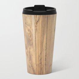 Wooden Background Travel Mug