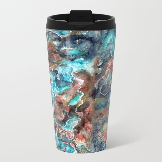 Etheral Nebula Metal Travel Mug