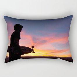 Longboard Silhouette Rectangular Pillow
