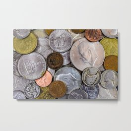 United States - Jumble of Old Coins Metal Print