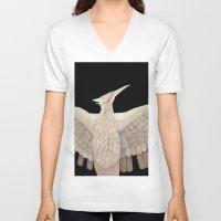 mockingjay V-neck T-shirts featuring The Mockingjay. by Lithh
