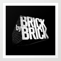 Brick by Brick Art Print