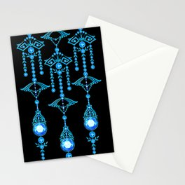 CASTELLINA JEWELS: COOL ELECTRIC BLUE Stationery Cards