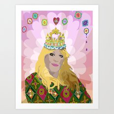 QUEENIE Art Print