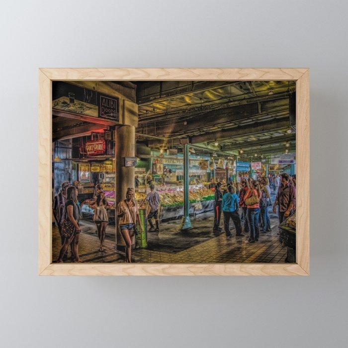 Pikes Place Framed Mini Art Print