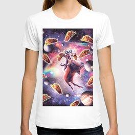 Thug Space Cat On Goat Unicorn - Taco T-shirt