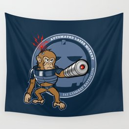 Automated Laser Monkey Wall Tapestry