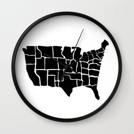 America from Memory Wall Clock
