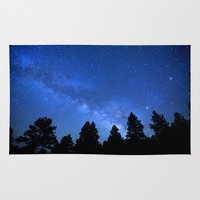 milky way Area & Throw Rugs featuring Milky Way by 2sweet4words Designs