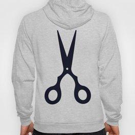 Simple Black Scissors Hoody