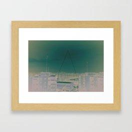 Bucharest Triangle Framed Art Print