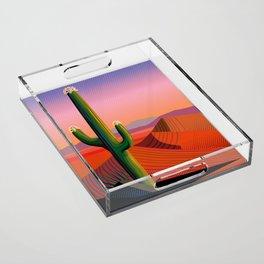 Saguaro Blossoms Acrylic Tray