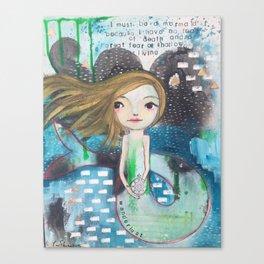 graffiti mermaid Canvas Print