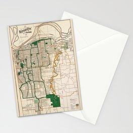 Map Of Kansas City 1915 Stationery Cards