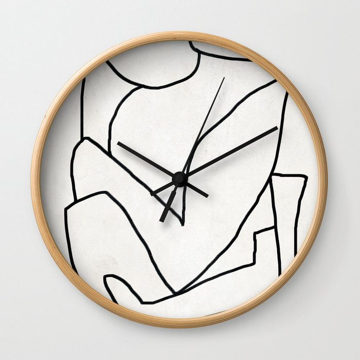 Abstract line art 2 Wall Clock
