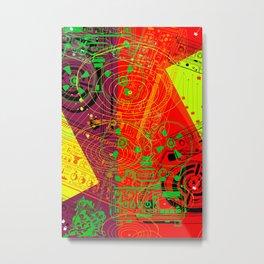 Jx3 Music Series - ColourPopMusik Metal Print