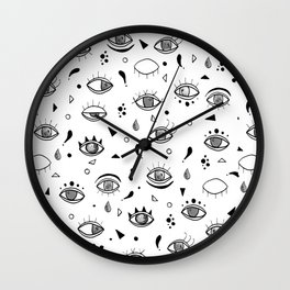 Eyes eyes baby Wall Clock