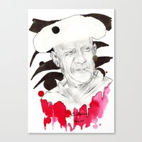 picasso Canvas Prints featuring Picasso by Mitja Bokun