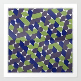Green-Blue-Purple  Art Print