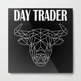 Stocks Exchange Trading Capitalism Daytrader Bull Metal Print