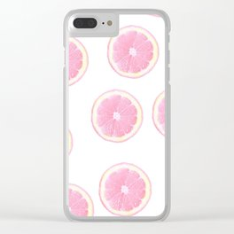 Pink grapefruit Clear iPhone Case