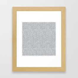 Hand Knit Light Grey Framed Art Print
