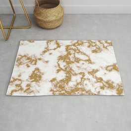 Luxury Gold Marble Rug
