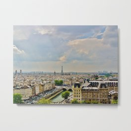 The View from Notre Dame Metal Print