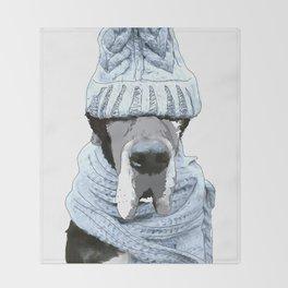 Great Dane Winter is Here Throw Blanket