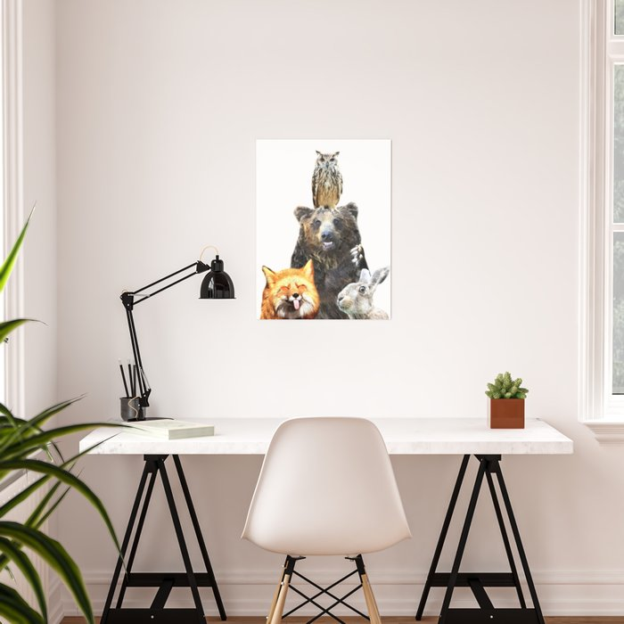 Woodland Animal Friends Poster
