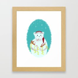 jolly Christmasbear Framed Art Print