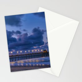 Pier Lights at Dawn Stationery Cards
