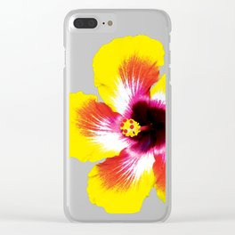 Hibiscus in Yellow Clear iPhone Case