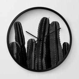 Cactus Black & White Wall Clock