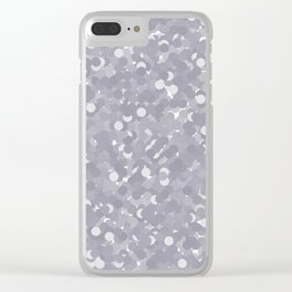 Lilac Gray Polka Dot Bubbles Clear iPhone Case