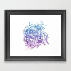 Painted Skull Framed Art Print