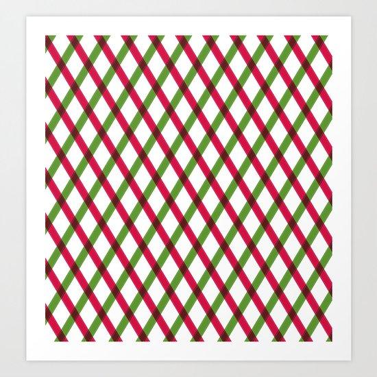 Holiday Ribbon Pattern Art Print