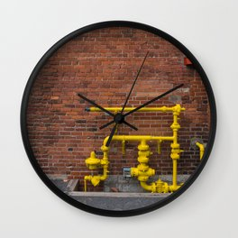 yellow  Montréal Québec canada Wall Clock