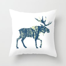 Moose Two Throw Pillow