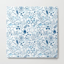 School chemical pattern #2 Metal Print