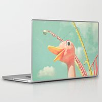 ostrich Laptop & iPad Skins featuring Ostrich by Cassia Beck