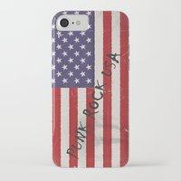 punk rock iPhone & iPod Cases featuring Punk Rock USA by Shalisa Photography