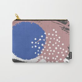 Blue Hydrangea Gypsophila Abstract Carry-All Pouch