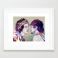 larry stylinson Framed Art Prints featuring Geometric Larry by Peek At My Dreams