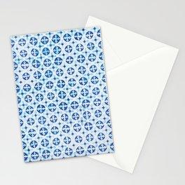 Blue Portuguese Tile Pattern Stationery Cards