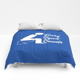 Every Squat Counts Comforters