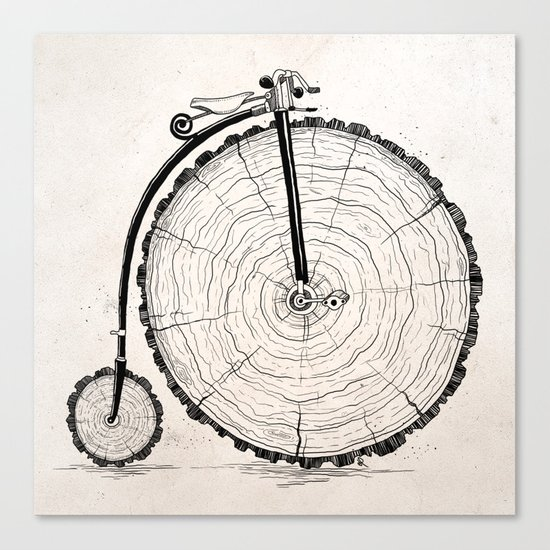 wooden bicycle Canvas Print