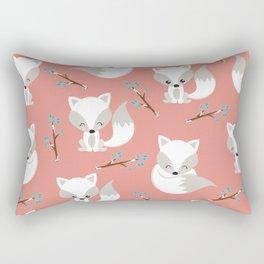 ARCTIC FOXES ON CORAL Rectangular Pillow