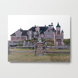 Stone Mansion on the River Metal Print