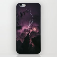 Purple lightning #stars iPhone & iPod Skin